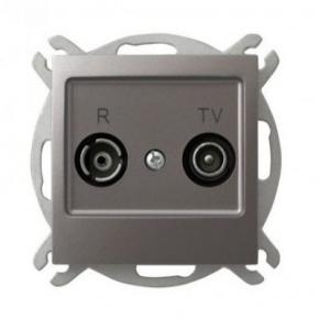Tytanowe gniazdo antenowe RTV przelotowe 14-dB GPA-14YP/m/23 IMPRESJA OSPEL