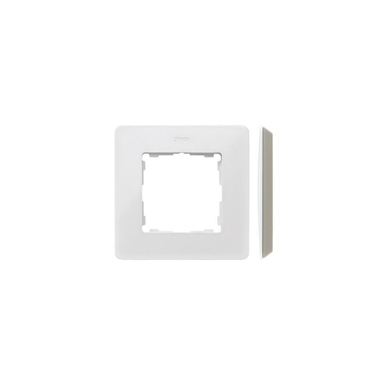 Ramki-pojedyncze - ramka pojedyncza biała ciepła 8200610-029 simon 82 detail kontakt-simon firmy Kontakt-Simon