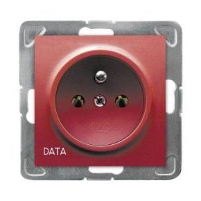 Gniazdo elektryczne pojedyncze z uziemieniem DATA GP-1YZD/m/00 IMPRESJA OSPEL