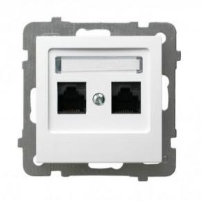 Gniazdo komputerowe podwójne białe RJ45 GPK-2G/K/m/00 AS OSPEL
