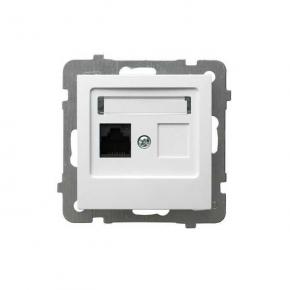 Gniazdo komputerowe pojedyncze białe RJ45 GPK-1G/F/m/00 AS OSPEL