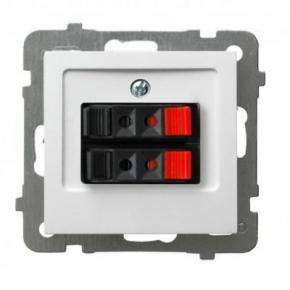 Białe gniazdo głośnikowe podwójne GG-2G/m/00 AS OSPEL