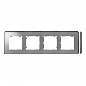 Ramka poczwórna aluminium zimne grafit 8201640-293 Simon 82 Detail Kontakt-Simon