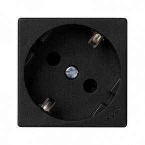 Gniazdo pojedyncze K45 SCHUKO z sygnalizacją napięcia szary grafit KL01/14 K45 Kontakt-Simon
