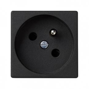 Gniazdo pojedyncze K45 z uziemieniem grafitowe K45 Kontakt-Simon