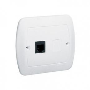 Białe gniazdo telefoniczne pojedyncze RJ12 AT1/11 Simon Akord Kontakt-Simon