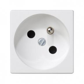 Białe gniazdo pojedyncze K45 z bolcem uziemiającym K02/9 K45 Kontakt-Simon