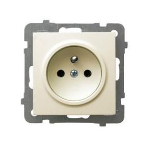 Gniazdo pojedyncze z uziemieniem ECRU GP-1 GZP/m/27 AS OSPEL