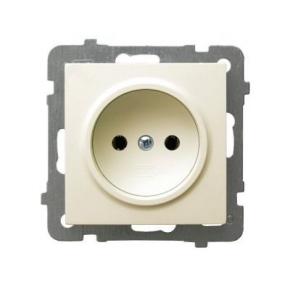 Gniazdo pojedyncze bez uziemienia ECRU GP-1G/M/27 AS OSPEL