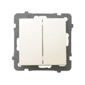 Włącznik podwójny świecznikowy ECRU ŁP-2G/m/27 AS OSPEL