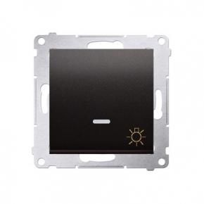 Przycisk zwierny światło z podświetleniem LED antracyt DS1L.01/48 Simon54 Kontakt-Simon