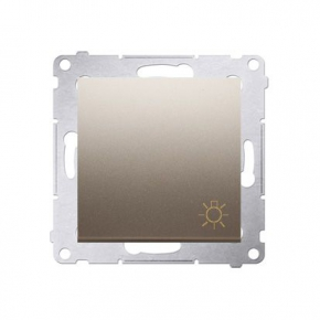 Włącznik typu światło zwierny złoty mat DS1.01/44 Simon54 Kontakt-Simon