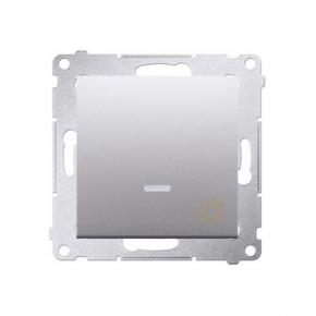 Przycisk zwierny światło z podświetleniem LED srebrny mat DS1L.01/43 Simon54 Kontakt-Simon