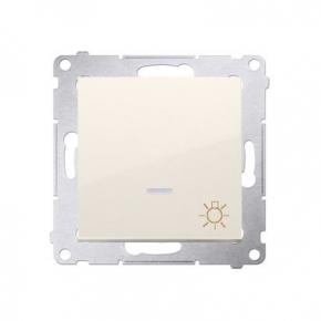Włącznik światła zwierny z podświetleniem LED kremowy DS1L.01/41 Simon54 Kontakt-Simon