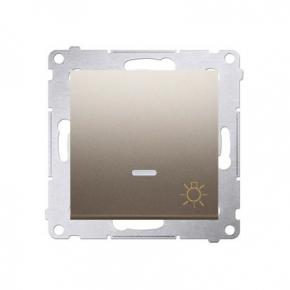 Przycisk zwierny z podświetleniem LED światło złoty mat DS1L.01/44 Simon 54 Kontakt-Simon
