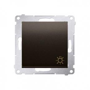 Przycisk brązowy zwierny typu światło mat DS1.01/46 Simon54 Kontakt-Simon