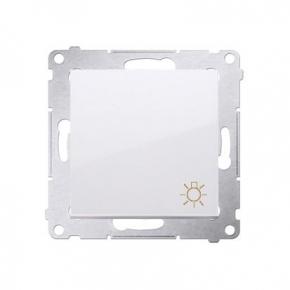 Biały przycisk zwierny światło DS1.01/11 Simon Basic Kontakt-Simon