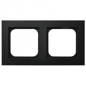 Czarna ramka podwójna R-2R/33 SONATA Ospel