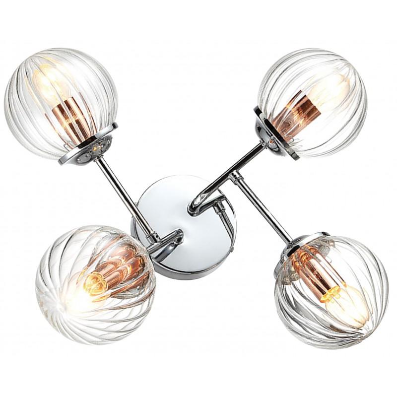 Kinkiety - przestrzenna lampa sufitowa chrom+miedź 4x40w e14 best 34-67265 candellux firmy Candellux