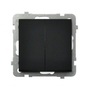 Czarny włącznik dwugrupowy świecznikowy ŁP-2R/M/33 SONATA Ospel