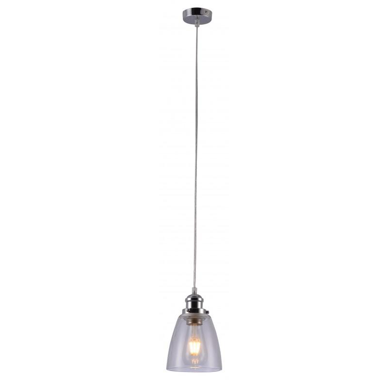 Lampy-sufitowe - nowoczesna, chromowana lampa wisząca 1x40w e27 voice 31-70821 candellux firmy Candellux
