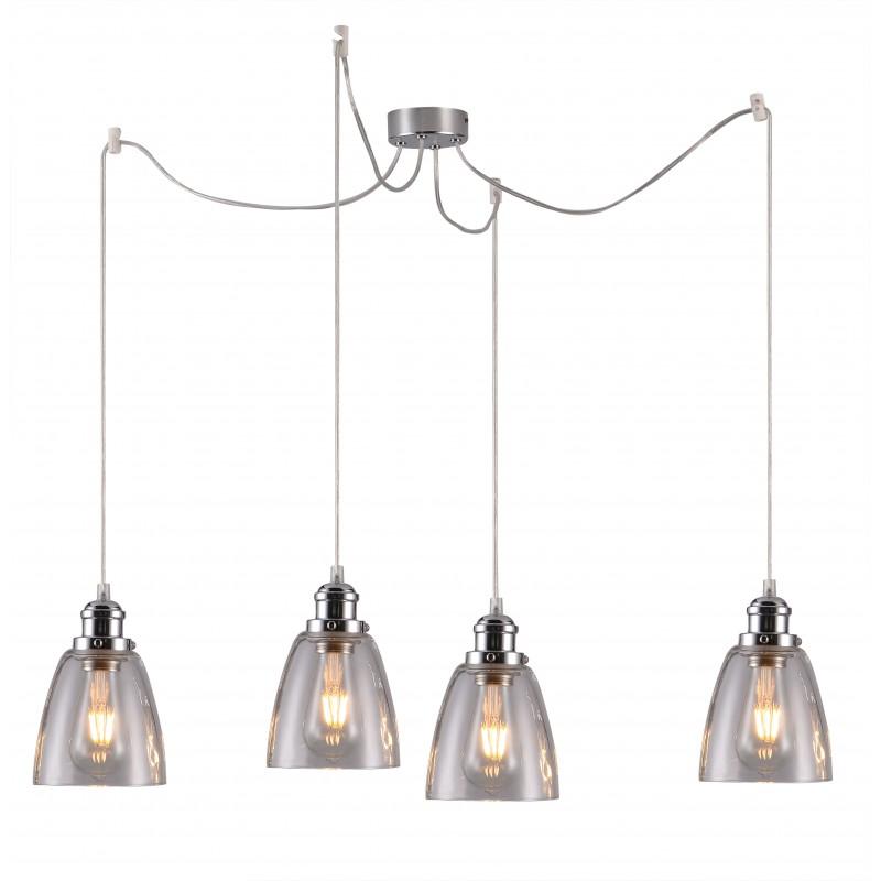 Lampy-sufitowe - lampa wisząca cztery szklane klosze 4x40w e27 voice 34-70838 candellux firmy Candellux