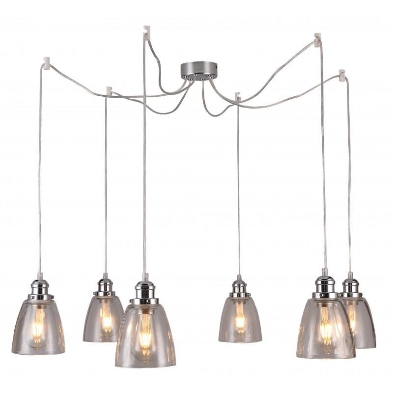 Lampy-sufitowe - lampa wisząca z sześcioma źródłami światła 40w e27 voice 36-70845 candellux firmy Candellux