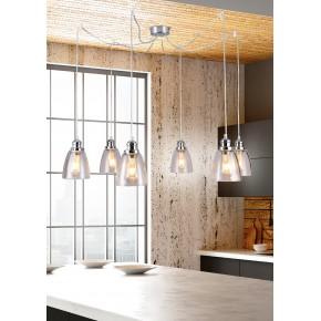 Lampy-sufitowe - lampa wisząca z sześcioma źródłami światła 40w e27 voice 36-70845 candellux