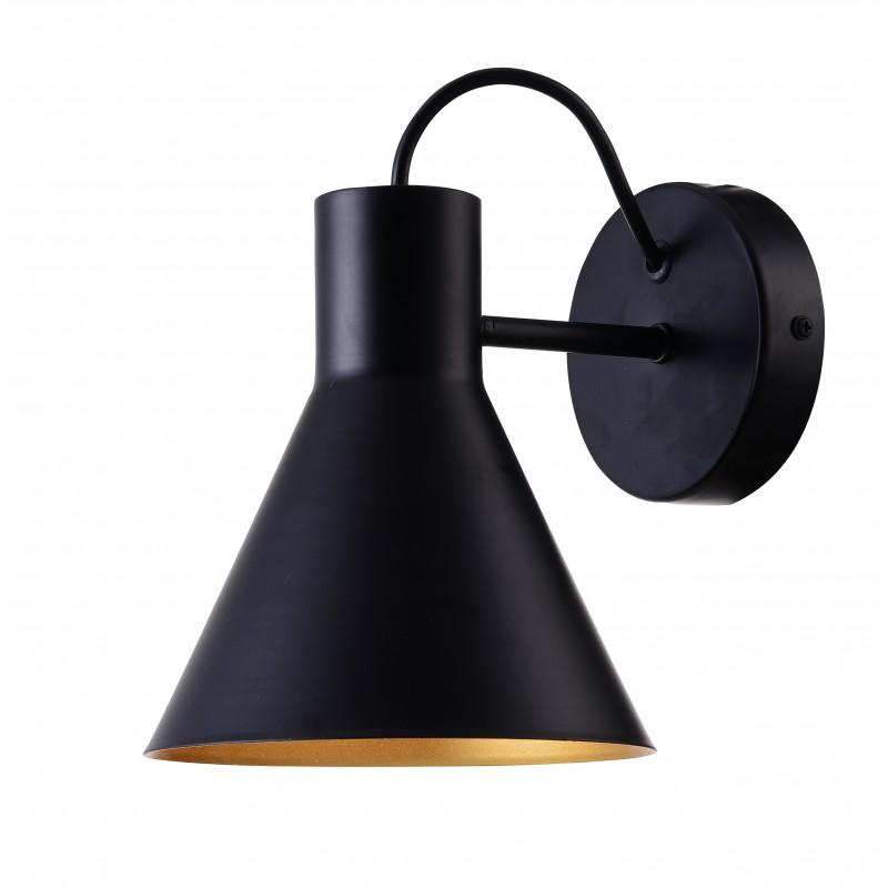 Kinkiety - czarny matowy kinkiet na żarówkę e27 40w more 21-71149 candellux firmy Candellux