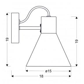 Kinkiety - czarny matowy kinkiet na żarówkę e27 40w more 21-71149 candellux