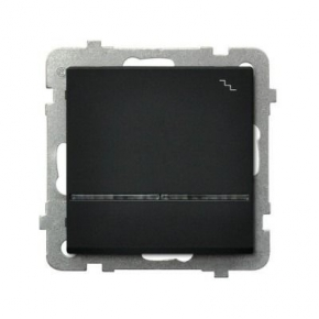 Czarny włącznik schodowy z podświetleniem pomarańczowym ŁP-3RS/M/33 SONATA Ospel