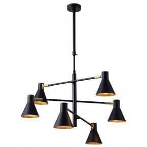 LESS LAMPA WISZĄCA 6X40W E14 CZARNY MATOWY