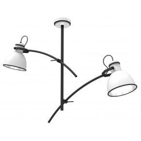 Lampy-sufitowe - wisząca lampa sufitowa podwójna biało-czarna e14 40w zumba 32-72054 candellux
