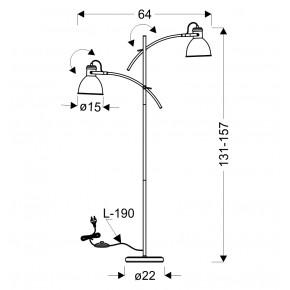 Lampy-stojace - lampa podłogowa podwójna o mocy 40w e14 biało-czarna zumba 52-72672 candellux