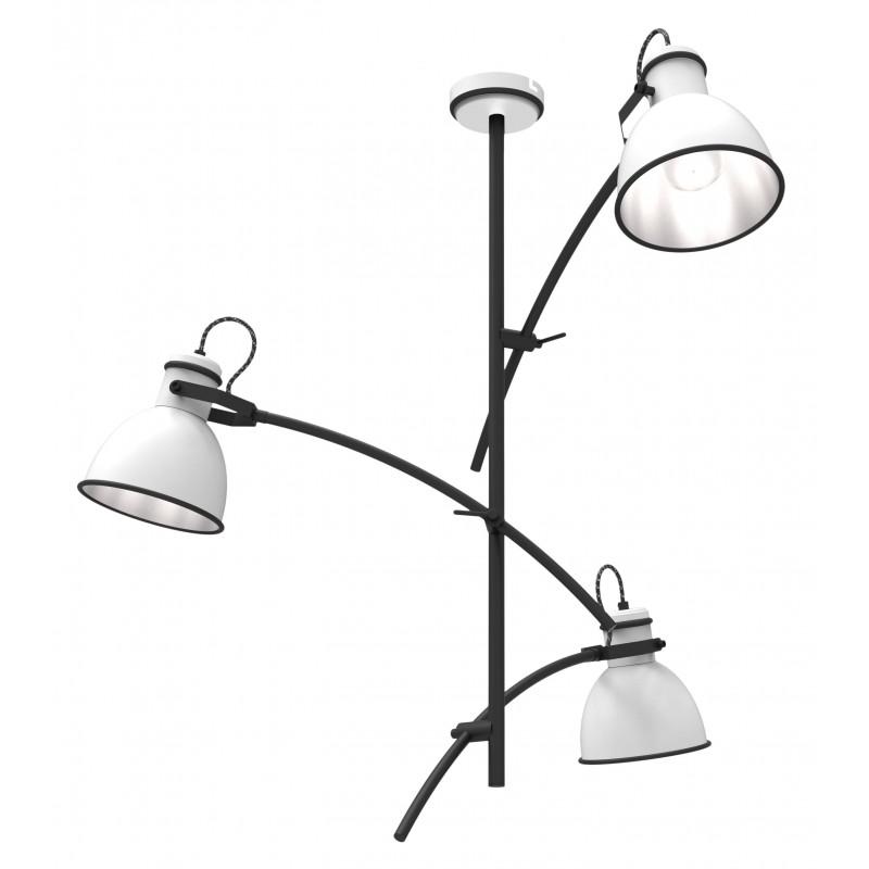 Lampy-sufitowe - lampa sufitowa wisząca potrójna biały+czarny e14 40w zumba 33-72061 candellux firmy Candellux