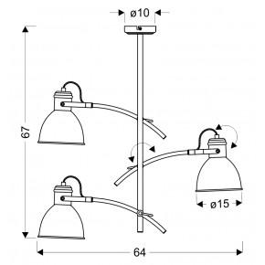 Lampy-sufitowe - lampa sufitowa wisząca potrójna biały+czarny e14 40w zumba 33-72061 candellux