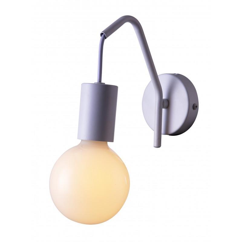 Lampy-sufitowe - matowy kinkiet biały 1x40w e27 basso 21-70982 candellux firmy Candellux