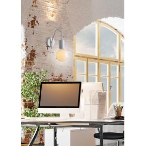 Lampy-sufitowe - matowy kinkiet biały 1x40w e27 basso 21-70982 candellux