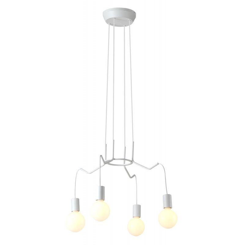 Lampy-sufitowe - lampa wisząca biały mat 4x40w e27 basso 34-71002 candellux firmy Candellux
