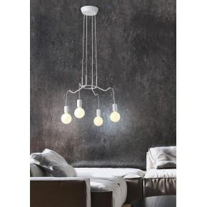Lampy-sufitowe - lampa wisząca biały mat 4x40w e27 basso 34-71002 candellux