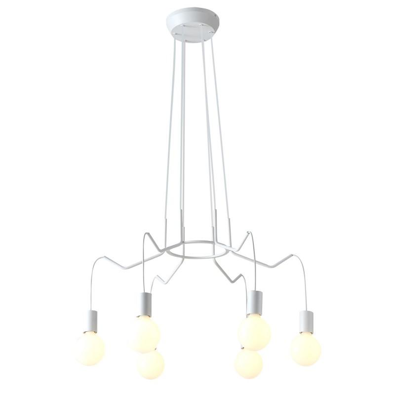 Lampy-sufitowe - loftowe oświetlenie sufitowe białe matowe 6x40w e27 basso 36-71026 candellux firmy Candellux