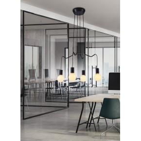 Lampy-sufitowe - lampa sufitowa w odcieniu eleganckiego czarnego matu 4x40w e27 basso 34-71019 candellux