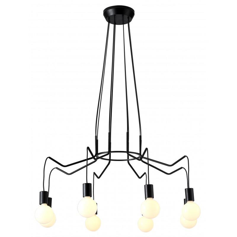 Lampy-sufitowe - industrialna lampa wisząca czarny mat 8x40w e27 basso 38-71057 candellux firmy Candellux