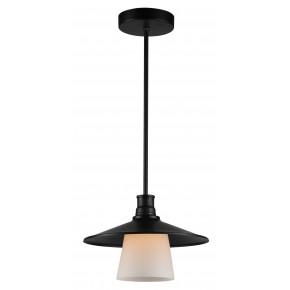 Lampy-sufitowe - metalowa lampa wisząca z czarnym abażurem 1x60w e27 loft 31-43108 candellux