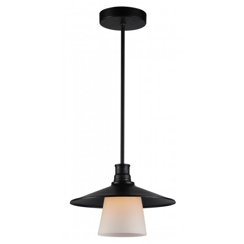 Lampy-sufitowe - metalowa lampa wisząca z czarnym abażurem 1x60w e27 loft 31-43108 candellux firmy Candellux