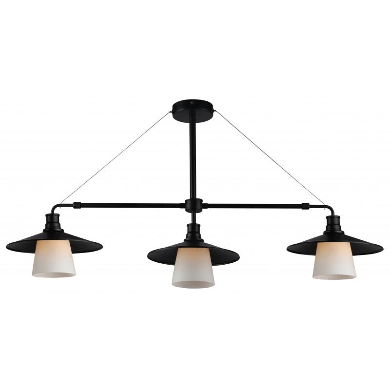 Lampy-sufitowe - lampa wisząca czarno-biała loftowa 3x60w e27 loft 33-43115 candellux firmy Candellux