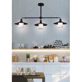 Lampy-sufitowe - lampa wisząca czarno-biała loftowa 3x60w e27 loft 33-43115 candellux