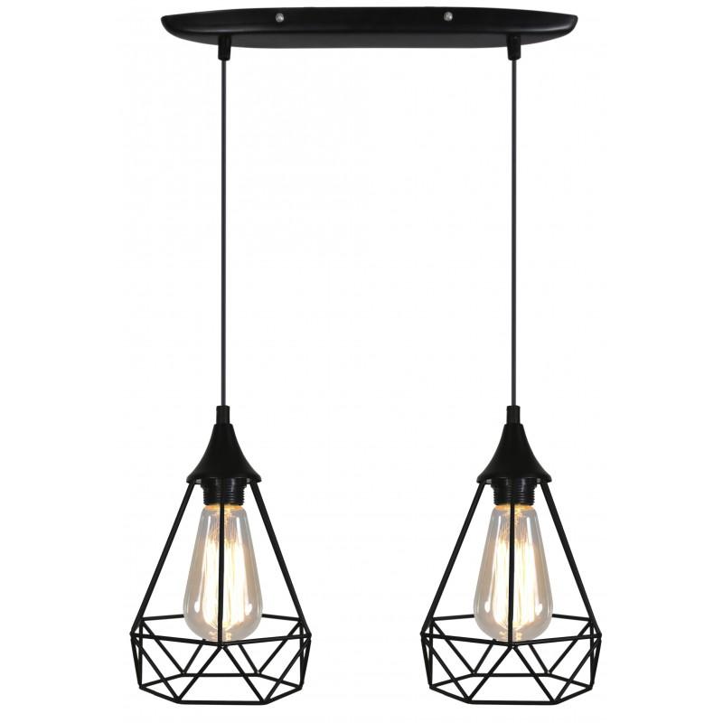 Lampy-sufitowe - geometryczna lampa podwójny zwis graf 32-62895 candellux firmy Candellux