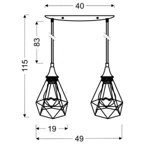Lampy-sufitowe - geometryczna lampa podwójny zwis graf 32-62895 candellux