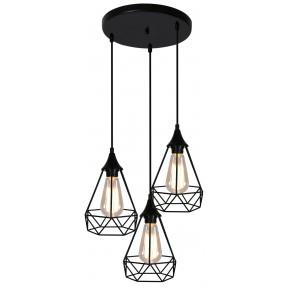 Lampy-sufitowe - druciana ażurowa lampa do loftu na 3 żarówki 33-62918 graf candellux